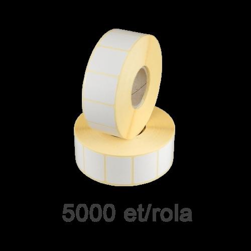 Role de etichete semilucioase 33x30mm 5000 et./rola