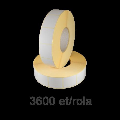 Role de etichete semilucioase 40x45mm 3600 et./rola