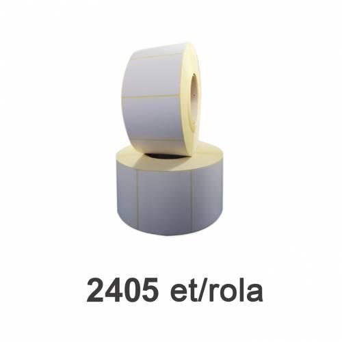 Role de etichete semilucioase 80x60mm 2405 et./rola