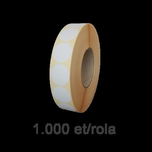 Role de etichete semilucioase rotunde 60mm 1000 et./rola