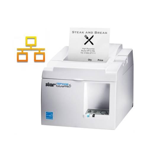 Imprimanta termica STAR TSP143III LAN alba