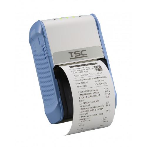 Imprimanta mobila de etichete TSC Alpha-2R 203DPI Bluetooth USB alb/albastra