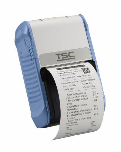 Imprimanta mobila de etichete TSC Alpha-2R 203DPI Wi-Fi USB alb/albastra