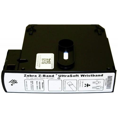 Bratari de identificare Zebra Z-Band Ultrasoft 25x152mm albe 1800 buc pentru nou-nascuti