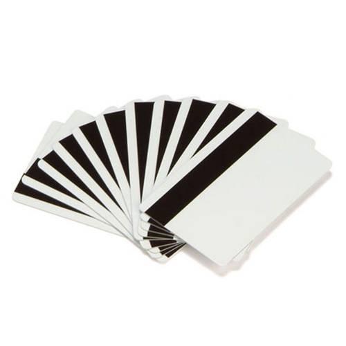 Card magnetic PVC Zebra Hi-Co CR80 alb